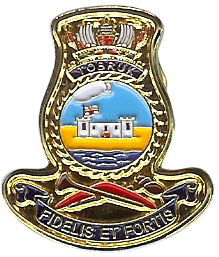 HMAS Tobruk Lapel badge